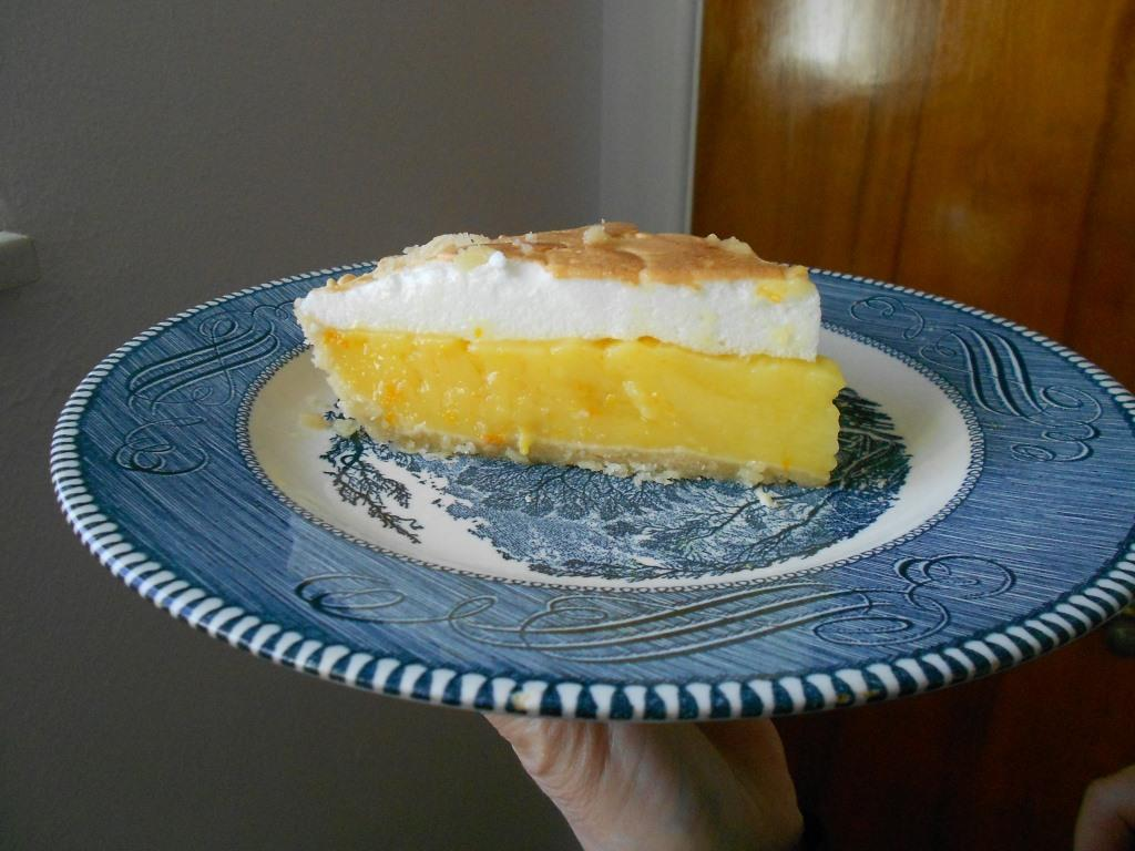 Orange Meringue Pie Piece