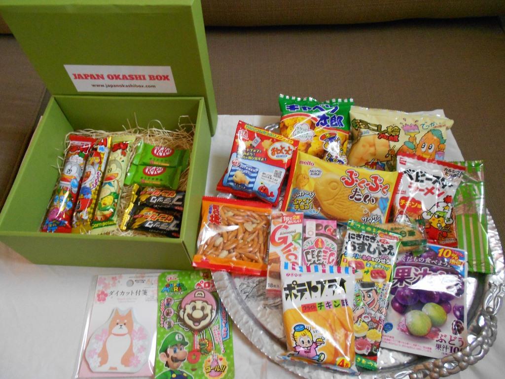 Japan Okashi Snack Box displayed