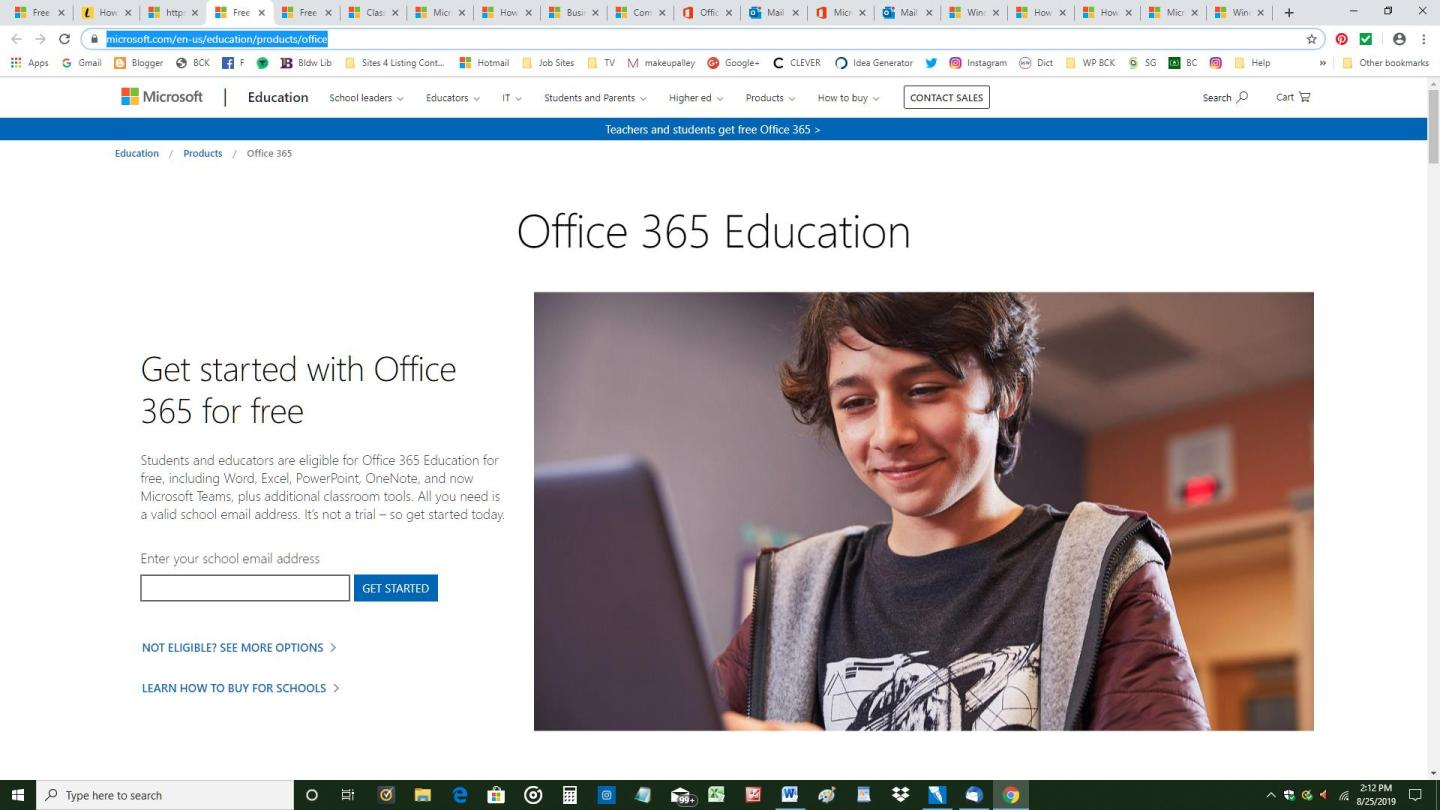 Free Microsoft Office 365 Screenshot