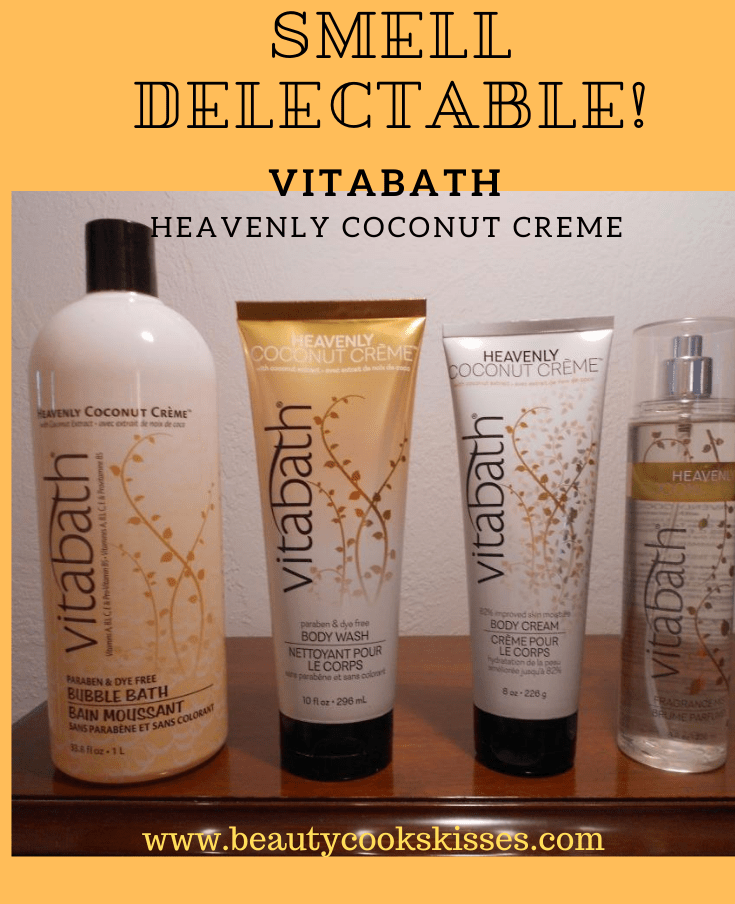 Smell delectable Vitabath Heavenly Coconut Creme!