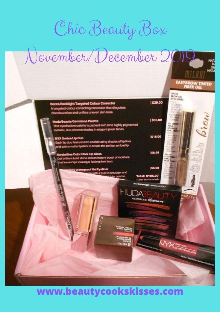 Chic Beauty Box NovemberDecember 2019