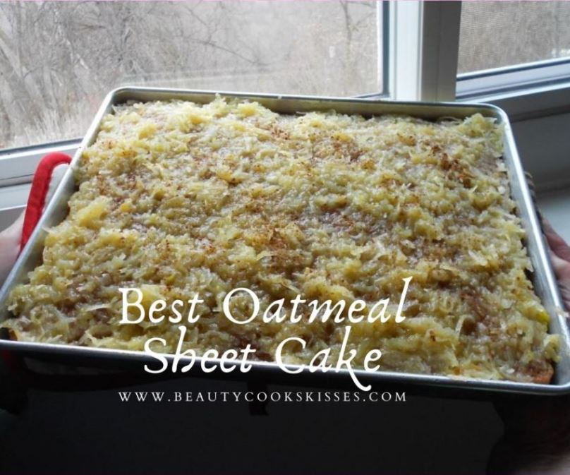 Best Oatmeal Sheet Cake With Cooked Coconut Icing
