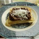 Homemade Dessert Waffles