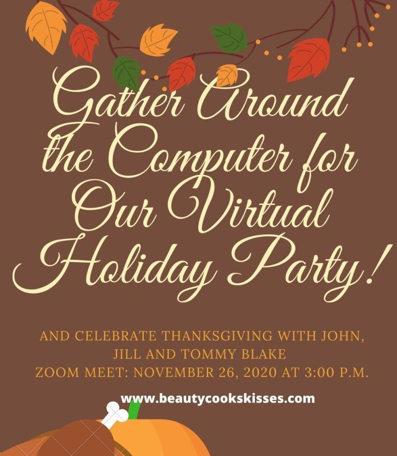 Virtual Holiday Party Online Invitation