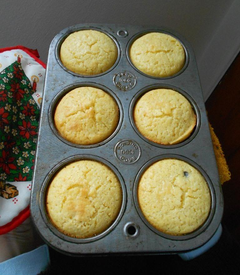 Corn Muffins in Pan