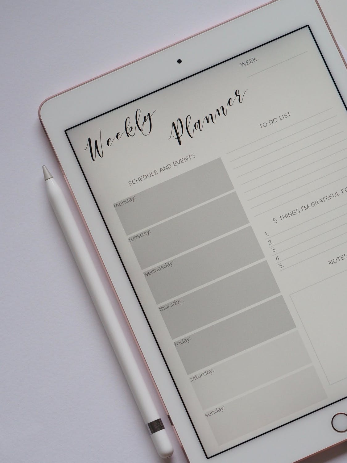 Mastering Good Habits Weekly Planner