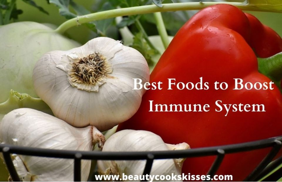 Best Foods to Boost the Immune System garlic and Red Bell Pepper