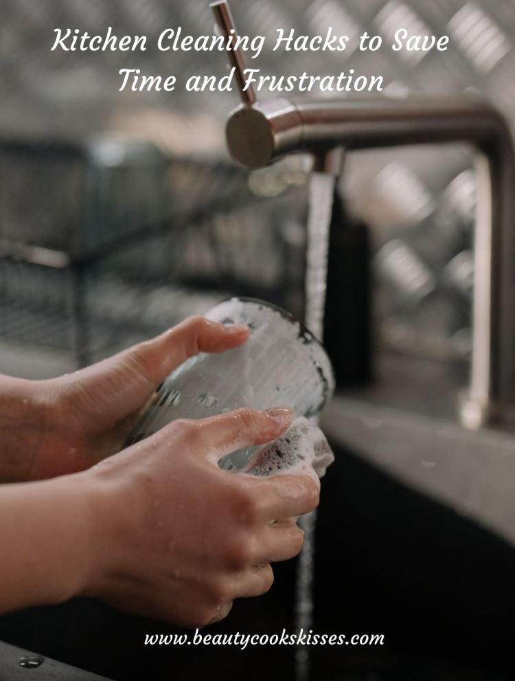 Kitchen Cleaning Hacks Washing Glass