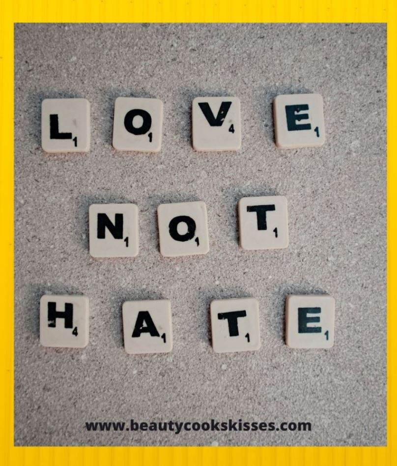 Love Not Hate Scrabble Tiles