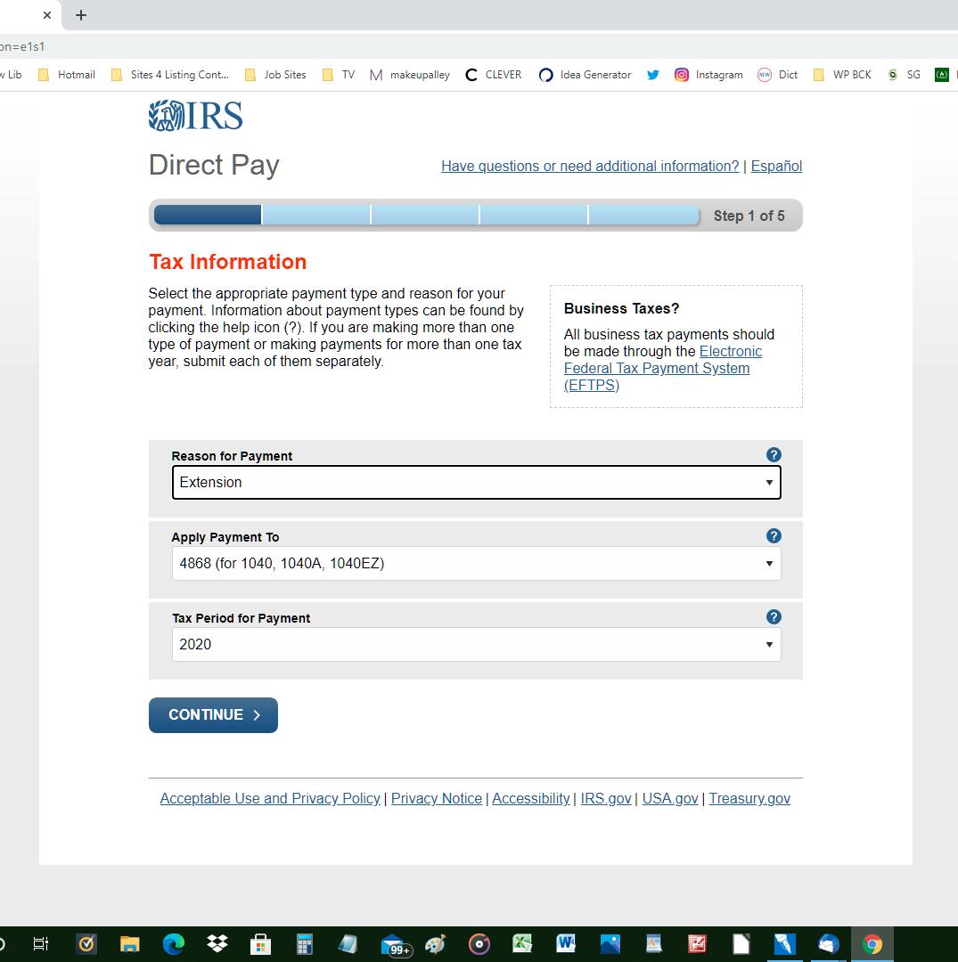tax deadline 2020 return
