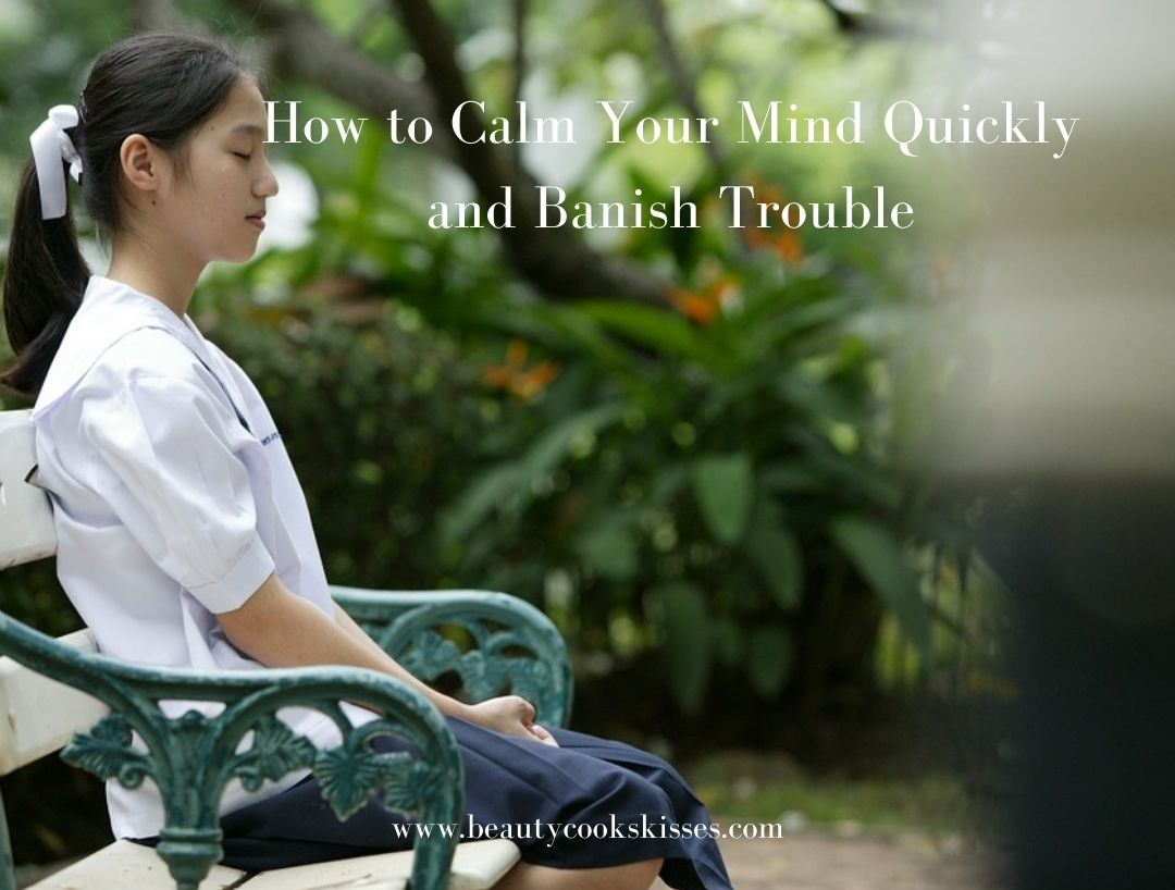 How to Calm Your Mind Quickly Woman managing stress