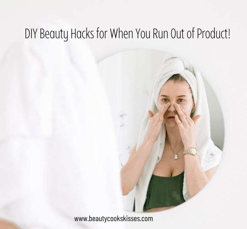 Woman Trying DIY Beauty Hacks