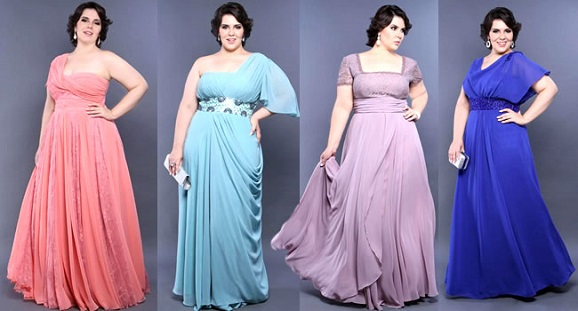 vestido gordinhas festa - Moda Festa para Gordinhas   Roupas para Festas