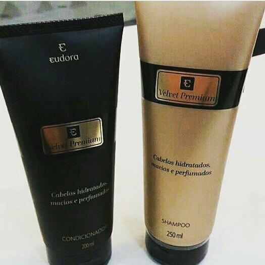 Shampoo e Condicionador Velvet Premium da Eudora