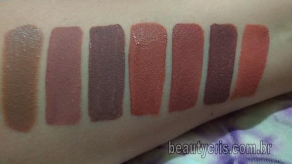 swatches batons nude amarronzados- beautycris