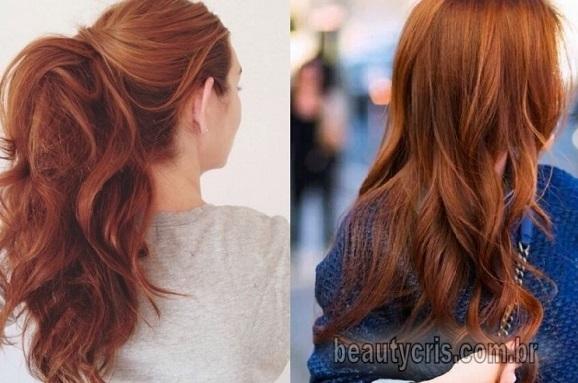 cabelo ruivo acobreado inverno