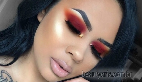 sombra avermelhada é tendencia - Sombra Avermelhada é tendência em maquiagem em 2019