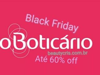 <p>Black Friday O Boticario oferece descontos de até 60%. Fique por dentro dos principais descontos e antecipe suas compras de Natal!</p>