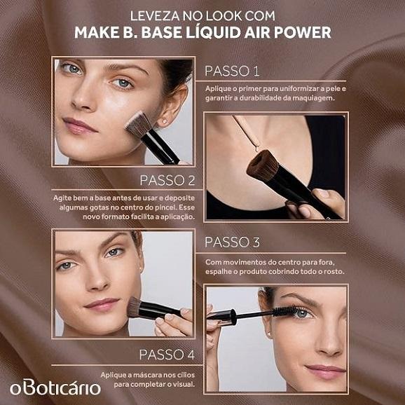 como aplicar a base air power make b