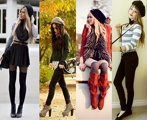 moda-inverno-adolescentes Moda Feminina para Adolescentes Outono- Inverno