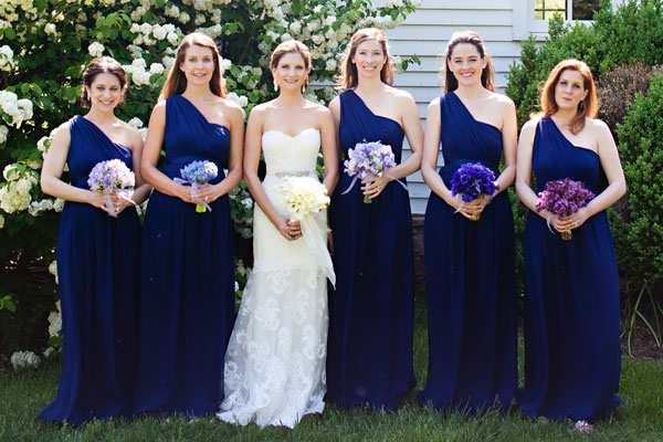 vestido para madrinhas de casamento azul marinho