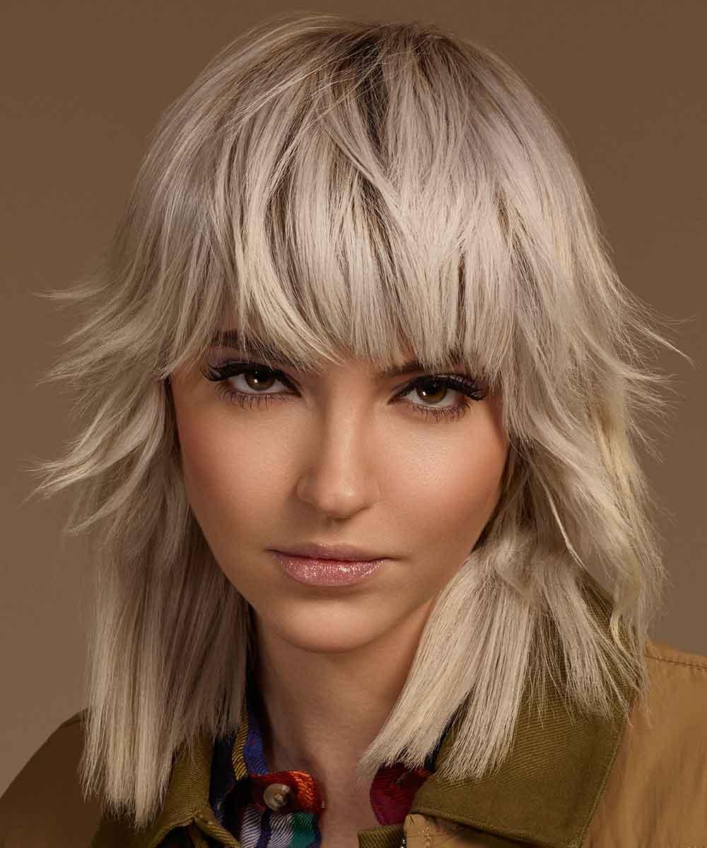 Tagli capelli medi frangia inverno 2021
