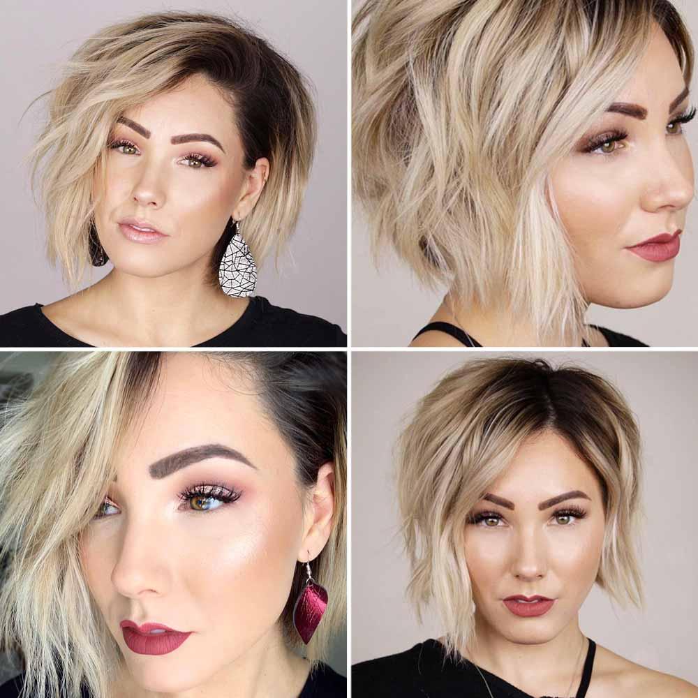 Taglio capelli asimmetrico medio corti 2021