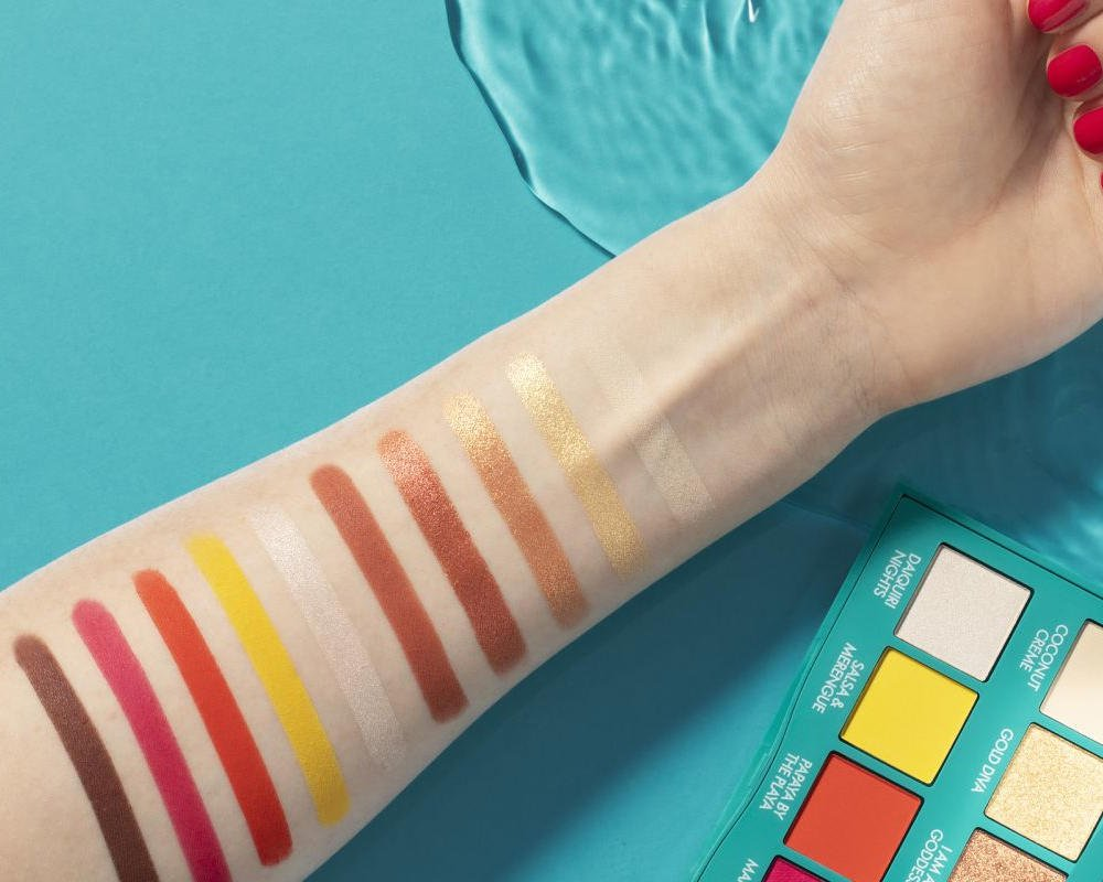 Swatches palette ombretti Pupa Baby K
