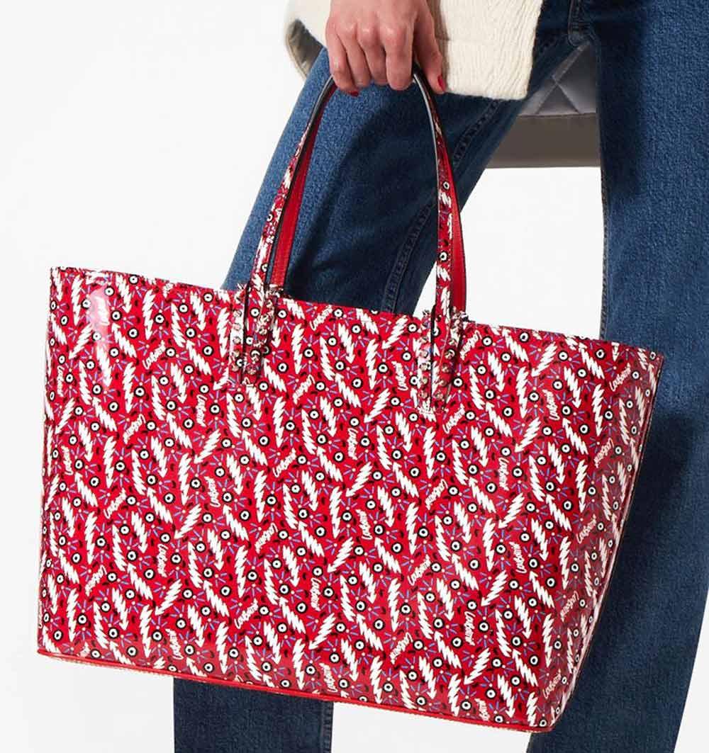 multicolor shopper bag