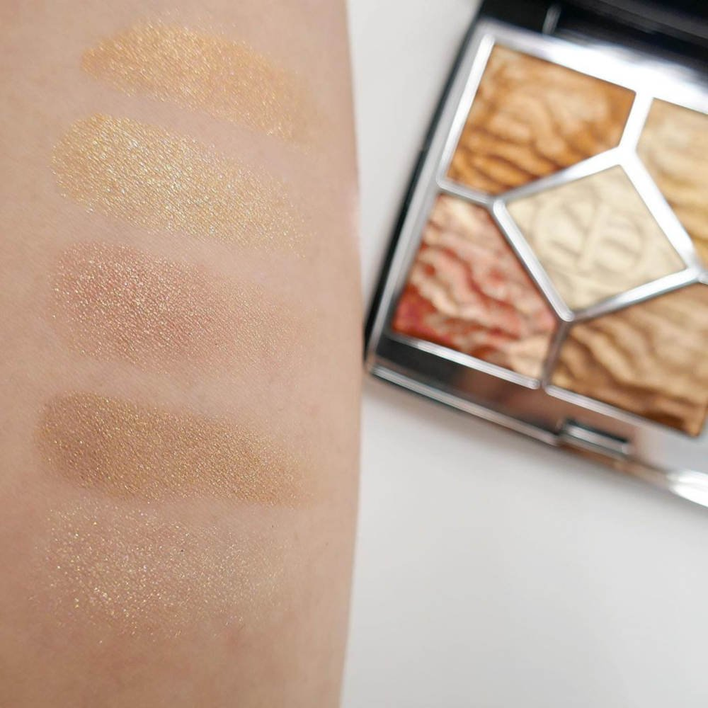 Swatches palette trucco Dior Dune