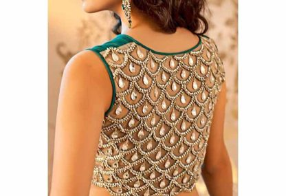 Image result for royal embroidered back blouse design