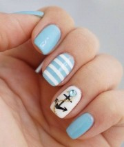 cute anchor nail art design