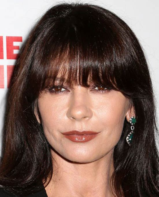 Catherine Zeta Jones Medium Hairstyles for Round Faces