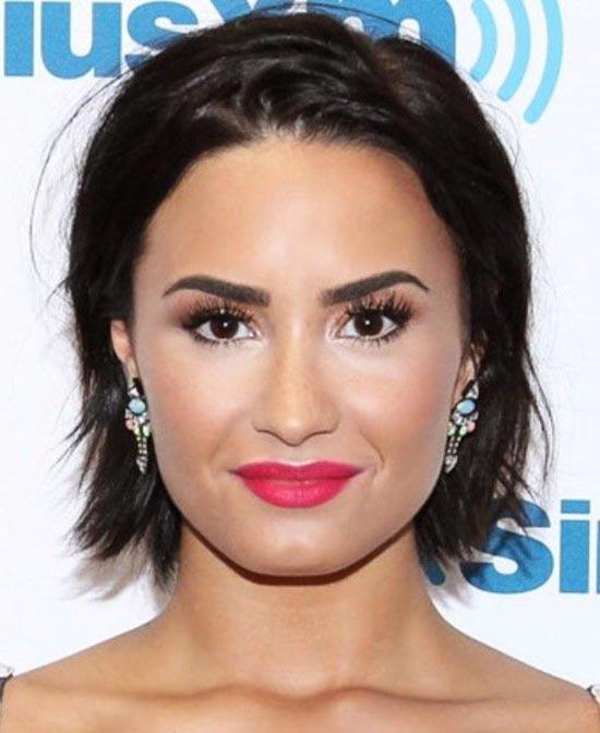 Demi Lovato Blunt Bob Hairstyles