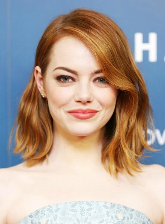 Emma Stone Bangs Hairstyle