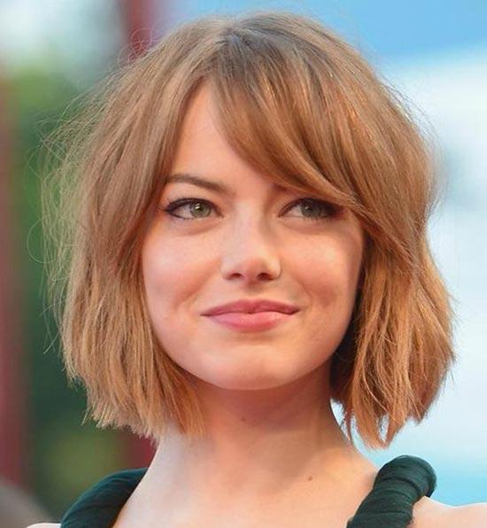 Emma Stone Blunt Bob Hairstyles