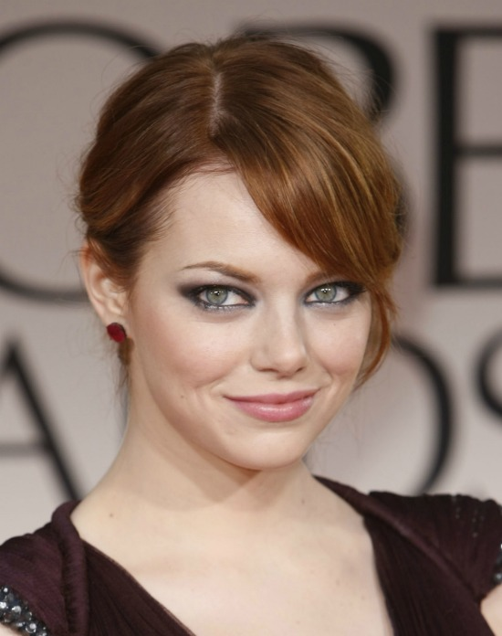 Emma Stone Messy Side-Pinned Updo