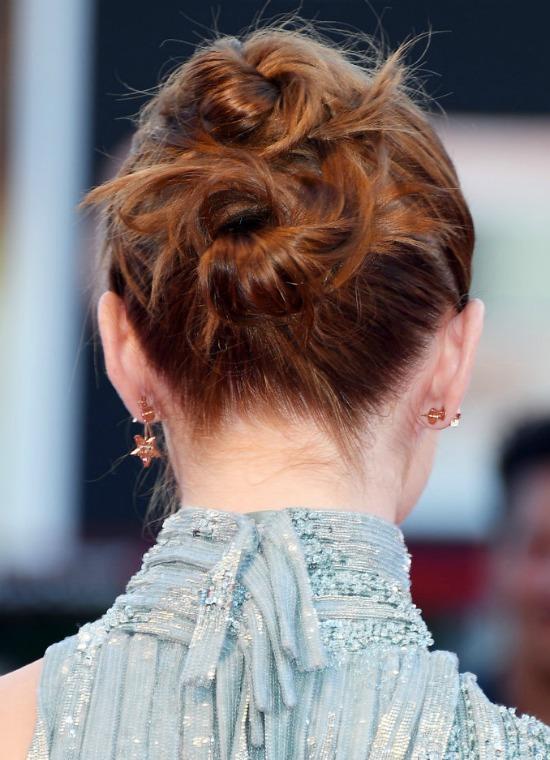 Emma Stone's Double-Bun Hairstyle