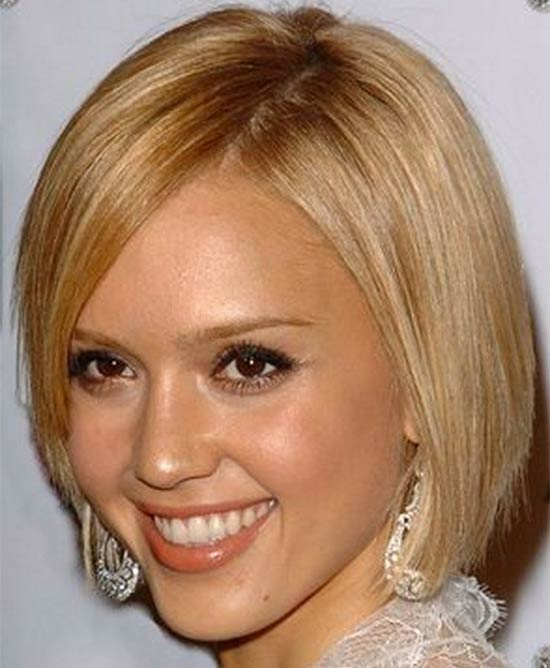 Jessica Alba Medium Blonde Hairstyles