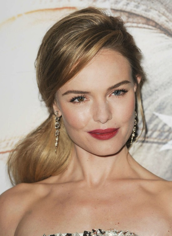 Kate Bosworth Low Side Ponytail Hairstyle