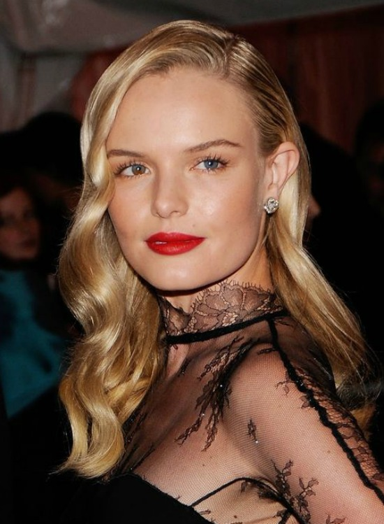 Kate Bosworth Side Swept Layered Hairstyle