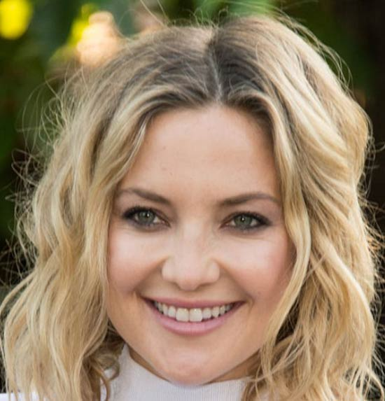 Kate Hudson Medium Hairstyles for Round Faces