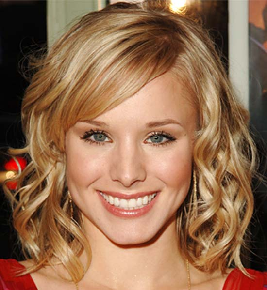 Kristen Bell Medium Curly Hairstyles