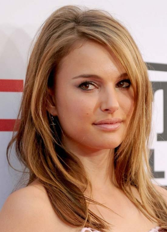 Natalie Portman Medium Length Haircuts for Thick Hair