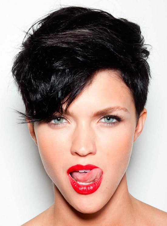 Ruby Rose Sassy Bob Haircuts for Round Faces