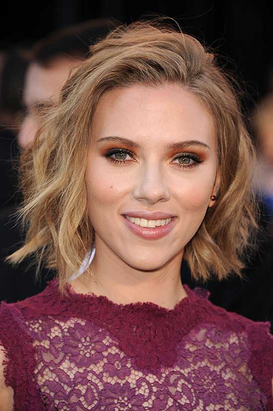 Scarlett Johansson Shaggy Bob Haircuts