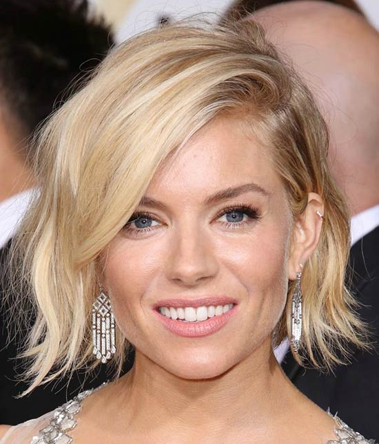 Sienna-Miller Messy Bob Hairstyles