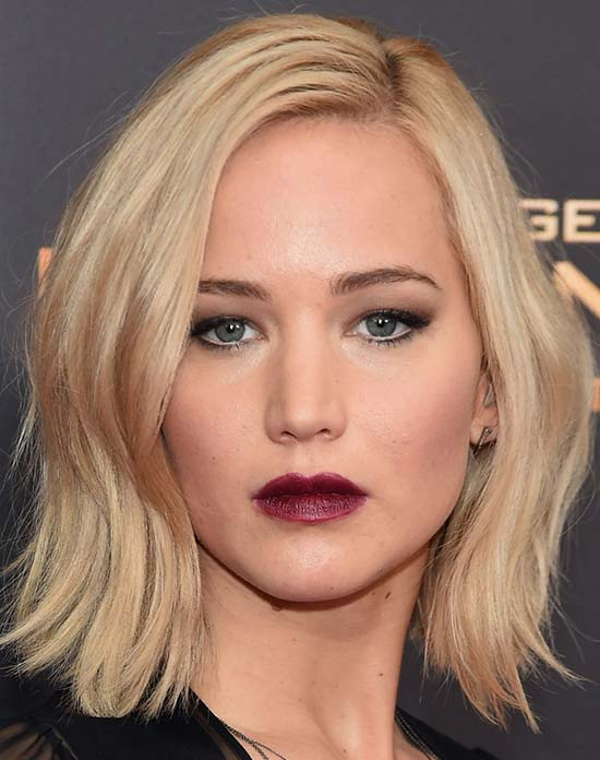 Jennifer Lawrence Medium Blonde Hairstyles