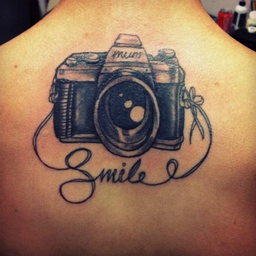 Camera Tattoo Back