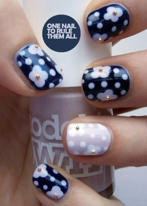 Spring Polka Dot Nail Art